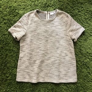Anthropologie 9h-15 s'cl gold striped top